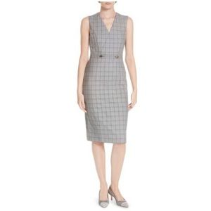 🆕Ted Baker Working Title Check Sheath Dress